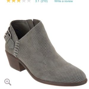 Vince Camuto Suede booties with buckle detail